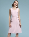 V-Neck Dress With Belt