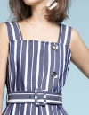 Striped Shift Dress With Buttons