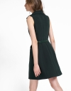 V-Neck A-Line Dress With Pockets