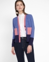 Color Block Knit Coat