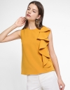 Sleeveless Blouse With Ruffled Detail