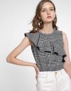 Sleeveless Top With Asymmetric Ruffles