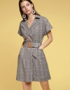 Sleeved Wrapped Dress With Belt