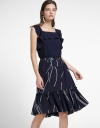 Printed Dress With Ruffled Detail