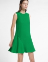Shift Dress With Asymmetric Hem