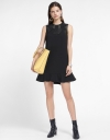 Lace-Trimmed Dress With Ruffled Hem