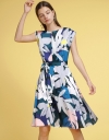 Printed Dress With Pleated Detail