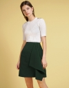 Mid-Rise Skirt With Asymmetric Layer