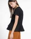 Sleeved Blouse With Ruffled Layer