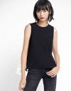 Sleeveless Blouse With Contrast Hem