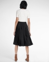 Pleated Midi Skirt With Attached Belt