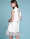 Printed Shift Dress With Tied Back