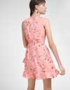 Floral Printed Dress With Ruffled Hem