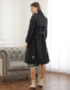 Belted Coat With Layered Back