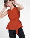 Sleeveless Tied Blouse