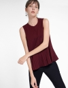 Sleeveless Blouse With Pleated Hem