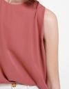 Sleeveless Color Block Blouse