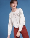 Sleeved Sweater With Cut-Out Detail