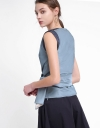Color Block Top With Tied Detail