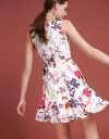 Floral Printed Dress With Square Neckline