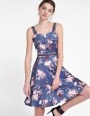 Strappy Floral Dress With Waist Panel