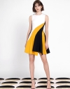 Asymmetric Color Block Dress