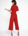 Wide-Leg Jumpsuit With Ruffled Sleeves