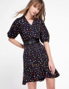 Sleeved Polka Dotted Dress