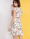 Floral Printed Dress With Ruffles