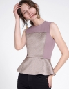 Embroidered Top With Ruffled Hem