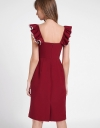 Cold-Shoulder Dress With Ruffles