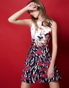 Color Block Abstract Printed Dress