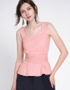 Cold-Shoulder Top With Waist Panel