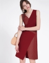 Geometric Color Block A-Line Dress