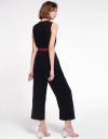 Color Block Jumpsuit With Belt