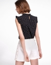 Dotted Blouse With Ruffles