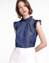 Round Neck Top With Ruffles