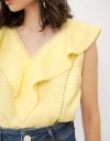 V-Neck Ruffled Blouse