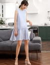 Shift Dress With Color Block Back