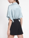 Rayon Sleeved Relaxed Shirt