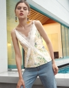 Embroidered Floral Printed Top