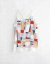 Strappy Geometric Printed Top
