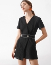 Sleeved Wrap Embroidered Romper