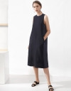 Sleeveless Midi Dress With Split Hem
