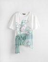 Abstract Printed Relaxed T-Shirt