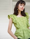 Ruffled Embroidered Top