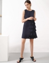 Sleeveless Dress With Cascading Layers