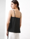 Strappy Top With Pleated Hem