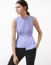 Sleeveless Top With Gathered Detail