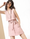 Sleeveless Belted Trench Dress